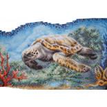 Мозаика панно черепаха