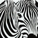 Панно из мозаики зебра 12: h=1,711м  l=1,722м  до 15 цв
