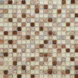 DAF 13- мозаика мрамор стекло 1.5 x 1.5 см
